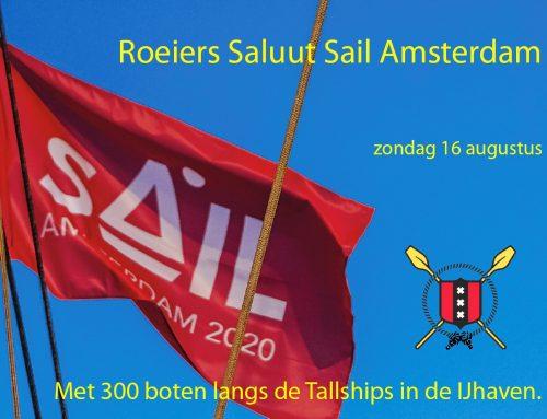 Roeiers Saluut Sail Amsterdam